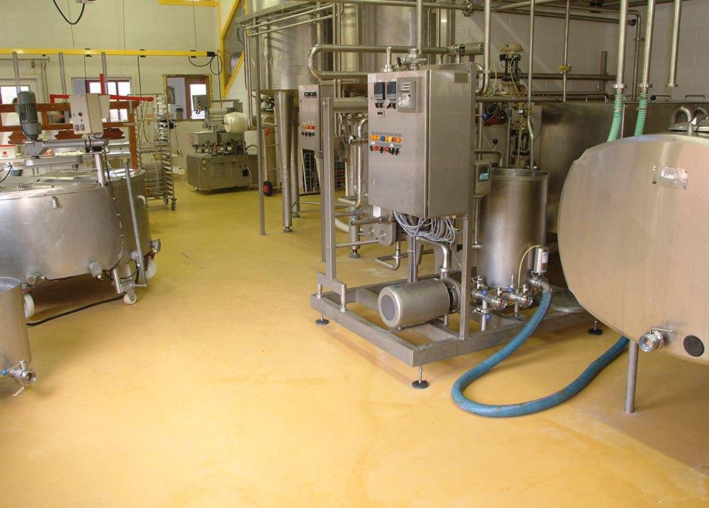 Gietvloer voor voedingsindustrie